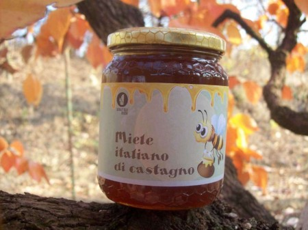 miele italiano di castagno azienda agricola Scoiattolo Rosso vendita nocciole